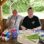 Lothar und Dieter, der Organisator und Chefkoch.